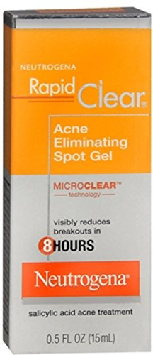 Neutrogena Spot Acne - Neutrogena Rapid Clear Acne Eliminating Spot Gel 0.50 oz (Pack of 2)