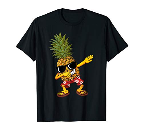 Dabbing Pineapple Sunglasses T shirt Aloha Beaches Hawaii