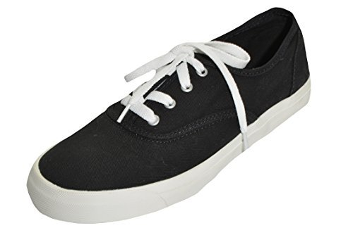 Pro Keds Womens Canvas Shoe (Black, 5.5)