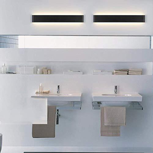 JZX Luz de Espejo para baño, lámpara de Pared de Aluminio, luz de cabecera, salón, luz de Espejo para baño,Blanco...