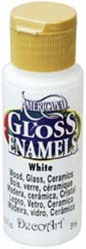 (Deco Art Americana Gloss Enamels, 2-Ounce, White)