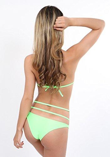 Anneaux Slip Avec Vert Et Argent Bikini Fluo BUwqn