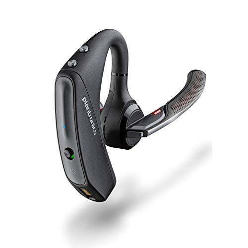 Plantronics – Voyager 5200 (Poly) – Bluetooth Over-the-Ear (Monaural) Headset – Compatible to connect to Cell Phones…