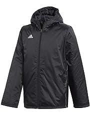 adidas Core 18 Stadium Jacket, S/P, Black/White