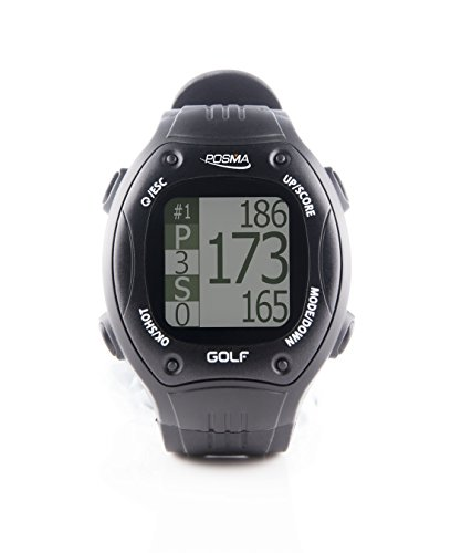 POSMAGolf Trainer GPS Golf Watch Range Finder, Preloaded Golf Courses, no download no subscription, Black, incl. US, Canada, Europe, Australia, New Zealand GT1