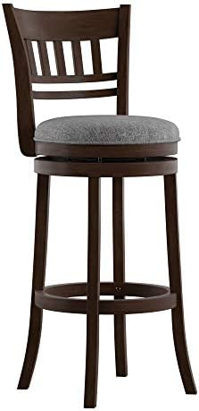 Union 5 Home Victor Linen Lattice Back Swivel 29-inch High Back Barstool