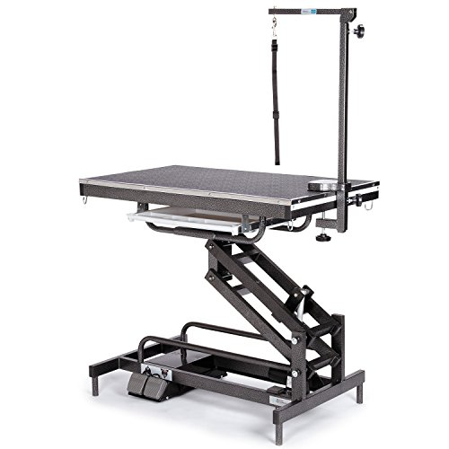 Pet Edge Master Equipment Origin Electric Powered Grooming Table - Sturdy Construction for Lifting Dogs Up to 185 Pounds
