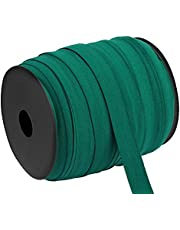Hislaves Sewing Band,15mm Bias Tape Elastic Good Flexibility 100m High Elongation Soft Sewing Piping for Sewing Crafts DIY, Bedspread, Cuff