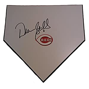 Cincinnati Reds Drew Stubbs Autographed Hand Signed Baseball Home Plate Base with Proof Photo of Signing and COA