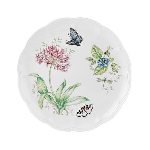 Blue Coupe Dinner Plate - Lenox Butterfly Meadow Blue Butterfly Dinner Plate