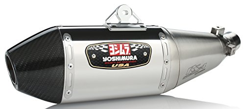: Yoshimura RS-4 Slip-On Exhaust (Street/Stainless Steel With Carbon Fiber End Cap/Works Finish) ()