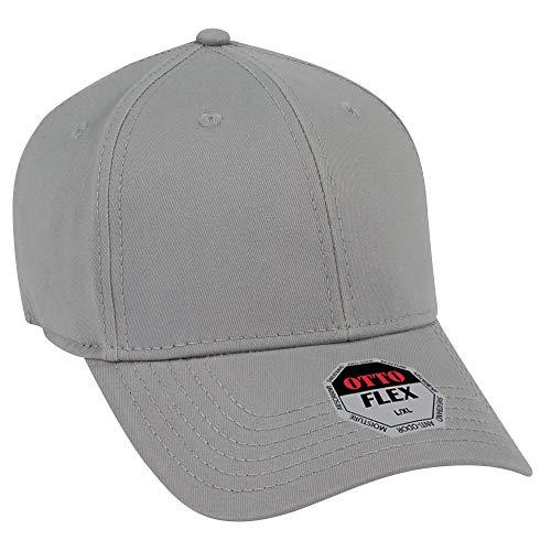 OTTO Flex Stretchable Superior Cotton Twill 6 Panel Low Profile Baseball Cap - Gray