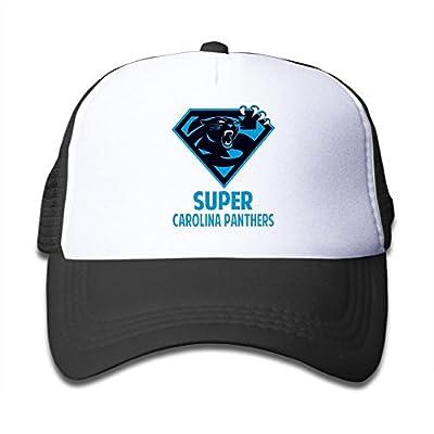 TIKE Adolescent Cap Hats Super Carolina Diamond Logo Team Fans Mesh Back Black