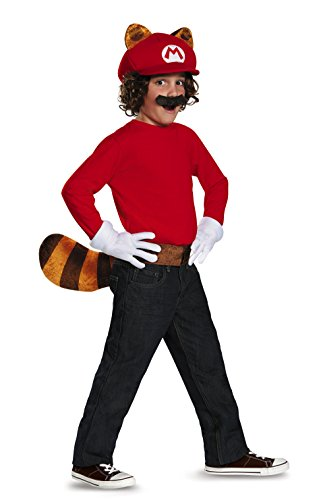 Mario Costumes Gloves (Mario Raccoon Super Mario Bros. Nintendo Child Costume Kit)