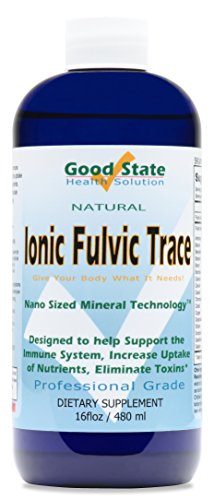 Good State | Ionic Trace Minerals with Fulvic Acid | Great for Boosting Immune System | 96 Servings At 125 Mg | 16 Fl oz Bottle