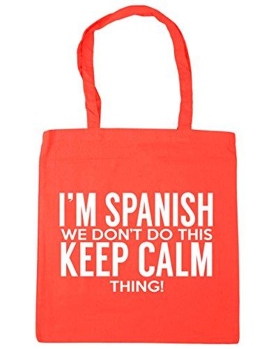 HippoWarehouse 42cm 10 do Coral calm thing Gym Bag Beach this don't litres I'm x38cm we Tote Shopping keep Spanish 6Bxqr6wf