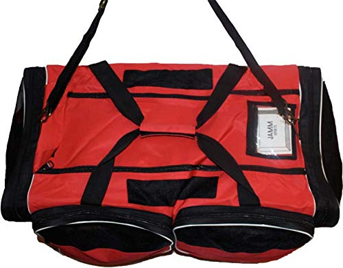 JAMM Senior Vented Red and Black Hockey Bag with End & Skate Pockets