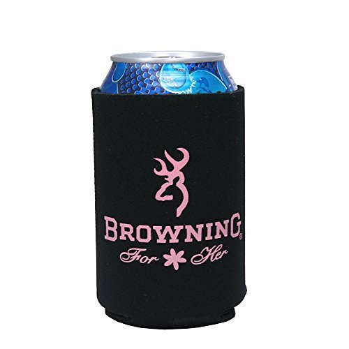 Browining 12Oz Black & Pink Can Cooler by AES - Black Browning Ice