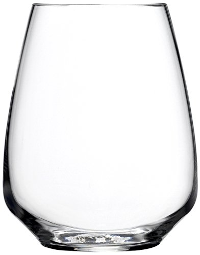 Luigi Bormioli Atelier Stemless Riesling Wine Glass, 14-Ounce, Set of 6 ()