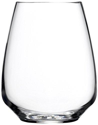 Luigi Bormioli Atelier Stemless Riesling Wine Glass, 14-Ounce, Set of 6