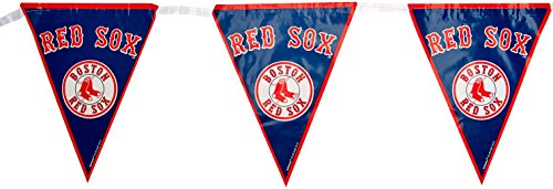 Amscan Major League Baseball Licensed Boston Red Sox Pennant Banner Party Decoration, Plastic, 12' Childrens (Piece)
