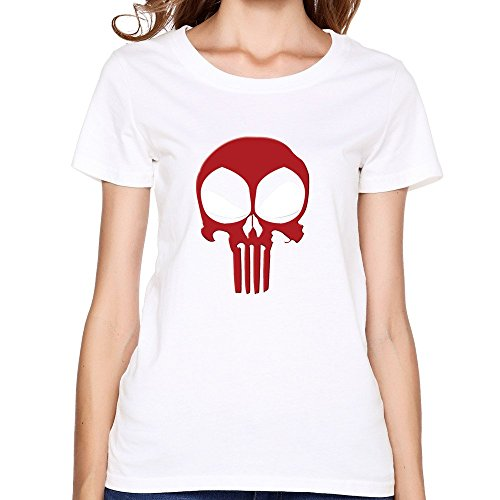Comics Deadpool Ghost Skull Face Women's T-shirt ()
