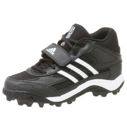 - adidas Boy's Corner Blitz 7 J Mid,Black/Runwht/Metsil,6 M
