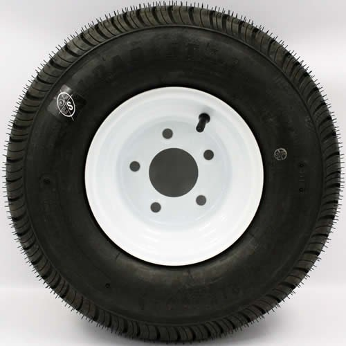 LoadStar 5-hole 8' x 7' White Trailer Wheel & Tire 215/60-8 4ply Americana
