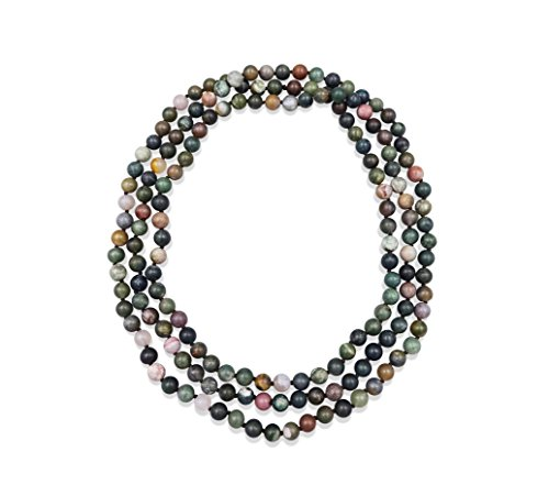 60 Inch Hand Knotted Fancy Jasper Endless Infinity Necklace In Matte (Layered Stone)