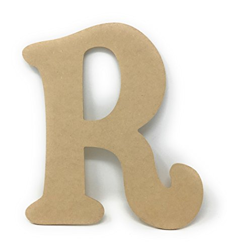 Gocutouts 12quot Unfinished Wooden R Craft Letter Sanded MDF Paint Ready Wall Decor 1/4 MDF R