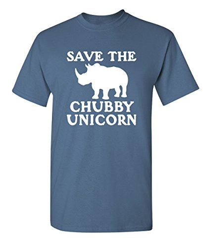 Movie T-shirt Feel Good (Save The Chubby Unicorn Mens Sarcastic Offensive T-Shirt S Dusk)