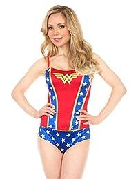 DC Comics Wonder Woman Logo Womens Corset with Panties