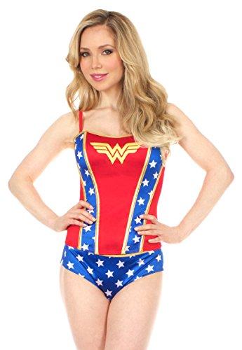 Wonder Woman Printed Corset and Panty Set - Panty Wonder Set Woman