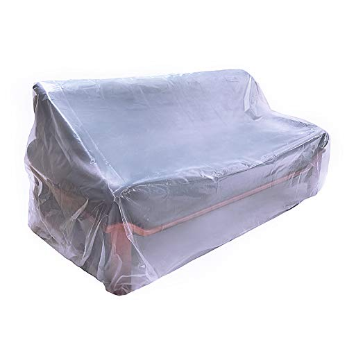 HGMart Plastic Armchair Couch Cover 5.5 Mil Extra Thick Furniture Cover Pet Dog Cat Protector Furniture Bag Waterproof Dust-Proof for Moving Protection and Long Term Storage (Armchair)