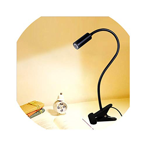 Metro Modern Table Lamp - Led Desk Lamp,Clamp Reading Lamp Flexible Led Table Light,Black,White,30Cm Tube