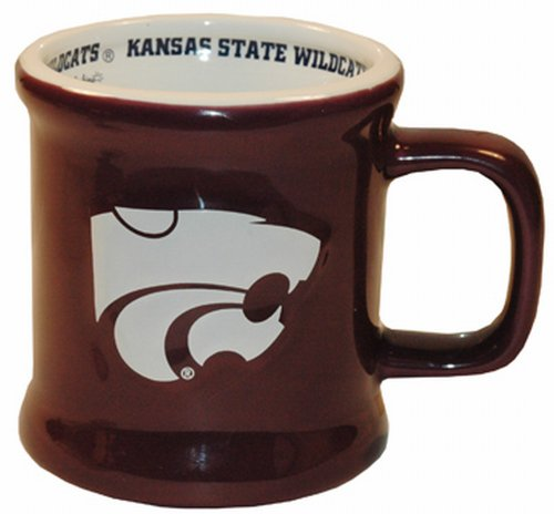 NCAA Kansas State Wildcats Ceramic Relief Logo Mug