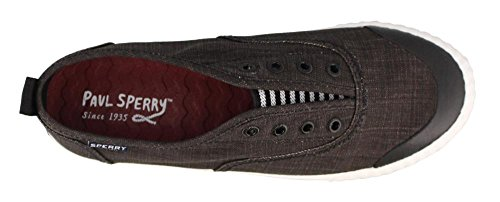 Sperry Top-Sider Women's Sayel clew Washed Canvas Sneaker Black tZ5eVhzAC