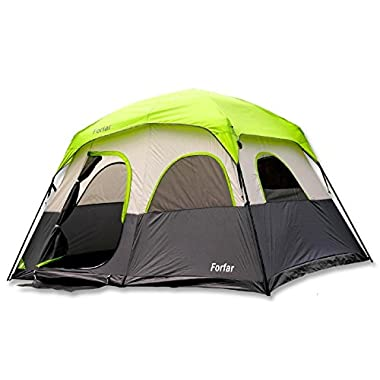Forfar 5 Persons 3 Seasons 2 Rooms Waterproof Outdoor Camping Tent