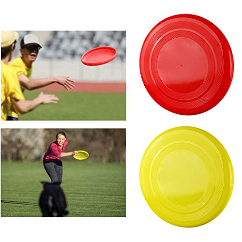 youeneom New Mini Silicone Flying Disc, Catching Outside Game 2.6in Zip Chip Interactive Game Toy, Soft Flying Disks Outdoor Sports Kindergarten Park Toy Great for Kids & Adults (Yellow)