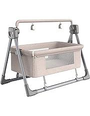 Rocking Chair Electric Cradle Baby Swing Bed, Automatic Rocking Recliner Crib Basket, Music Remoter Control Rocker Sleeping Basket Cot,Gray LJMYQL