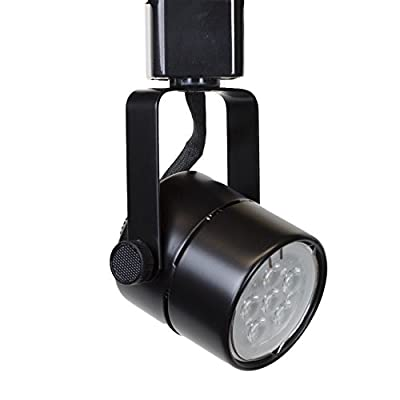 Direct-Lighting 50154L Black GU10 LED Track Lighting Head With 3000K Warm White 7.5W LED Bulb