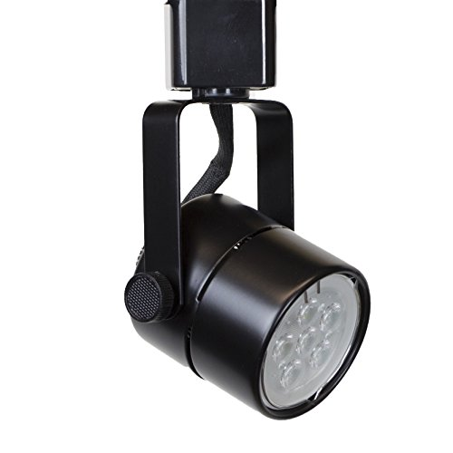 Direct-Lighting H System 3000K GU10 LED Track Lighting Head Black - With 3000K Warm White 7.5W LED Bulb 50154L