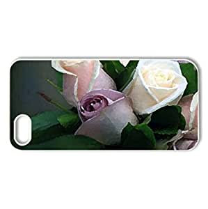 A Bouquet for Inspi - Case Cover for iPhone 5 and 5S (Flowers Series, Watercolor style, White)