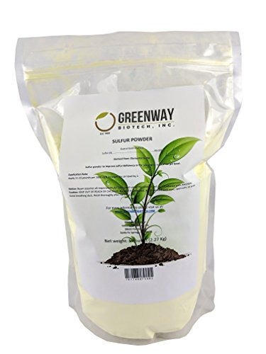 Yellow Sulfur Powder Greenway Biotech Brand 5 Pounds (Best Chicken Science Fair Project)