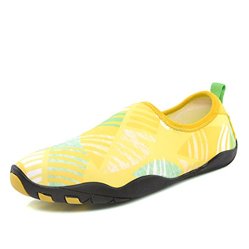 Z.SUO Barefoot Shoes Men Women and Kids Quick-Dry Water Shoes Aqua Socks For Beach Pool Surf Yoga Exercise Yellow