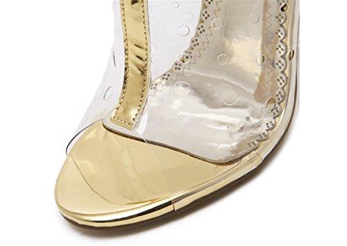 Delle Nozze Di Sandali Qualità Oro Lh Open Donne Yu Moda Alti Partito Toe Trasparente Tacchi Delle Banchetto Di Lucido Signore qAICwHSx