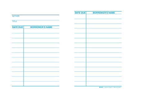 """Price comparison product image School Smart 1485890 Circulation Due Date Cards Record Book,  3"""" x 5"""",  White (Pack of 500)"""
