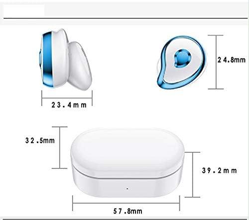 Chennong ブルートゥース5.0進化版、ワイヤレスイヤホン、左右独立タイプ、1時間の急速充電、150時間のロングプレイ、5時間の通話、6時間の音楽の流れ、若者に人気 (Color : White)
