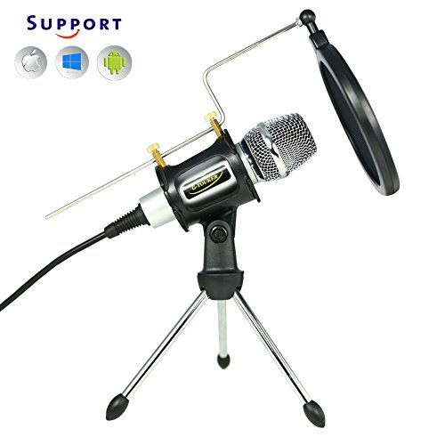3.5mm Condenser Sound Podcast Studio Microphone For Laptop Silver - 5