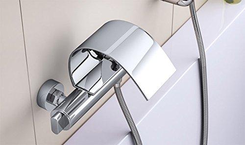 grifo de ba/ñera y ducha bimando mezclador con conector para ducha Berlina15 Grifo de ba/ñera con dise/ño de cascada